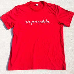 men's so-possible t-shirt (red)