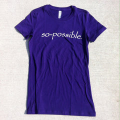 women's so-possible t-shirt (purple)