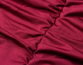 Burgundy Elegant Ruched Maxi Dress