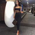 Black Crop Top & Skirt Two Piece Set | PINGLUDA