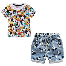 Load image into Gallery viewer, Baby Boys Girls Kids Clothes Set Mickey Sport Suit Summer Cotton T-shirt Shorts 2PCS Outfit Costume Children Clothing Tracksuit