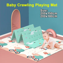 Load image into Gallery viewer, 180x200cm Foldable Waterproof Cartoon Baby Play Mat Xpe Puzzle Children's Mat Baby Climbing Pad Kids Rug Baby Games Mats