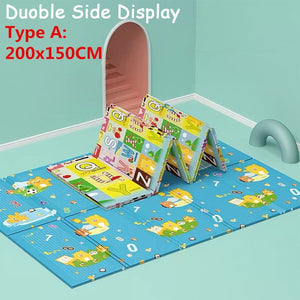 180x200cm Foldable Waterproof Cartoon Baby Play Mat Xpe Puzzle Children's Mat Baby Climbing Pad Kids Rug Baby Games Mats