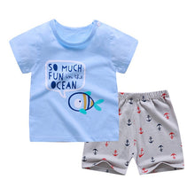 Load image into Gallery viewer, Summer T-Shirt+Short Pants 2020 Baby Boys Girls Cotton Clothing Sets Clothes set Outfits Bebes Suits 6M to 7 Years Old 2 PCS Set