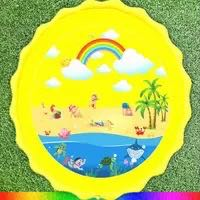 Load image into Gallery viewer, 170 CM Summer Children's Baby Play Water Mat Games Beach Pad Lawn Inflatable Spray Water Cushion Toys Outdoor Tub Swiming Pool