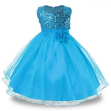 Load image into Gallery viewer, 1-14 yrs teenagers Girls Dress Wedding Party Princess Christmas Dresse for girl Party Costume Kids Cotton Party girls Clothing