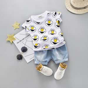 2020 fashion infant Suits Baby Clothing Set for Boys Girls Cute Summer Casual Clothes Set Giraffe Top+Shorts Kids Clothes