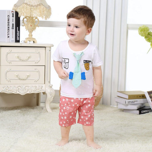 Newborn Lovely Infant 2pcs Baby Boy Clothing Set 100% Cotton Baby Boy Cloting 2020 Summer Toddler Baby Clothes SBS164002