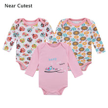 Load image into Gallery viewer, Near Cutest 3pcs/lot Baby Set Newborn Baby Cloting Long Sleeve Cotton Underwear Infant Boys Girls Clothes