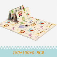Load image into Gallery viewer, 180*100CM Foldable Children's mat Kids Toys Cartoon Baby Play Mat Double-sided Baby Climbing Pad Kids Rug Waterproof Games Mats