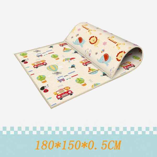 180*100CM Foldable Children's mat Kids Toys Cartoon Baby Play Mat Double-sided Baby Climbing Pad Kids Rug Waterproof Games Mats