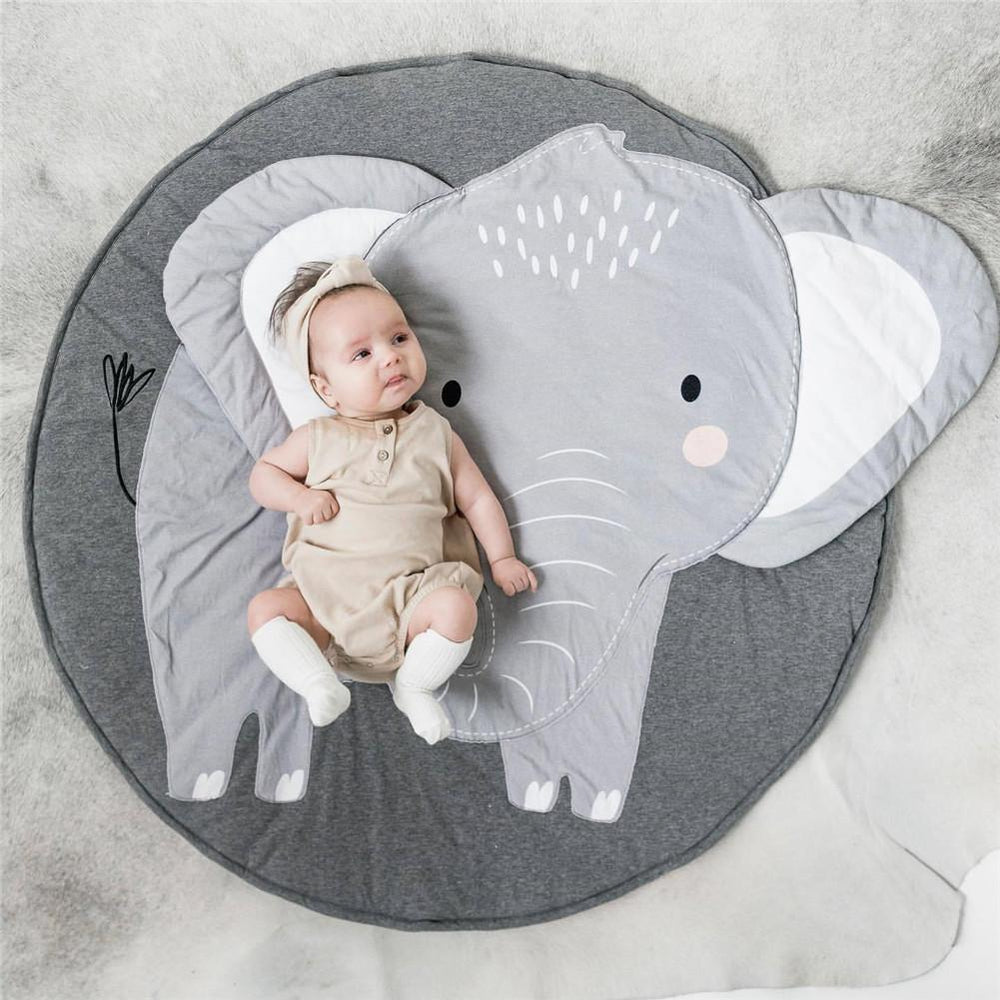 37.4inch Baby Play Mats Kids Crawling Carpet Floor Rug Baby Bedding Elephant Blanket Cotton Game Pad Children Room Decoration