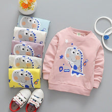 Load image into Gallery viewer, spring new boys and girls cartoon shirts cotton sweatershirts 0-3years baby cloting DD08
