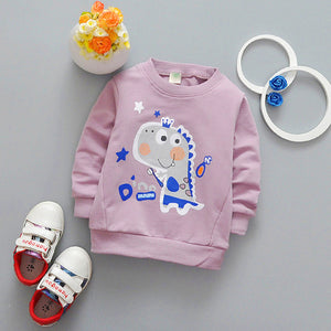 spring new boys and girls cartoon shirts cotton sweatershirts 0-3years baby cloting DD08