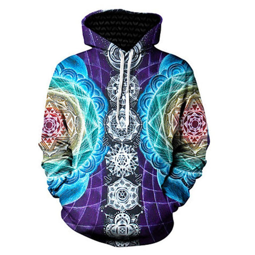 Psychedelic 3D Printed Jacket Trippy Visionary Mandala Chakra Print Hoodies Men/women Hipster Tracksuits Boys Oversized Cloting