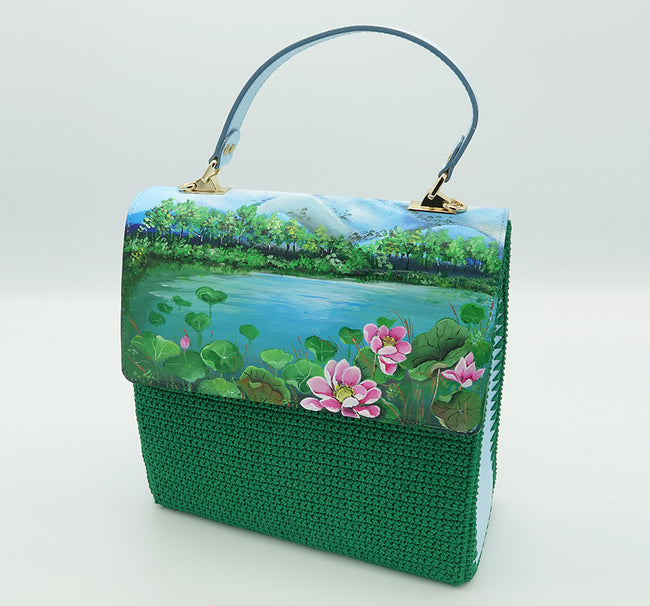 Painting on Leather Bag