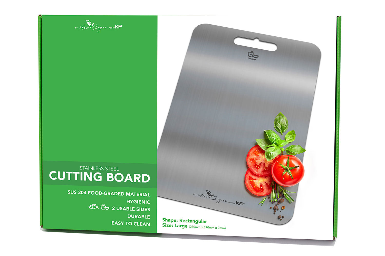 Stainless Steel Cutting Board Large