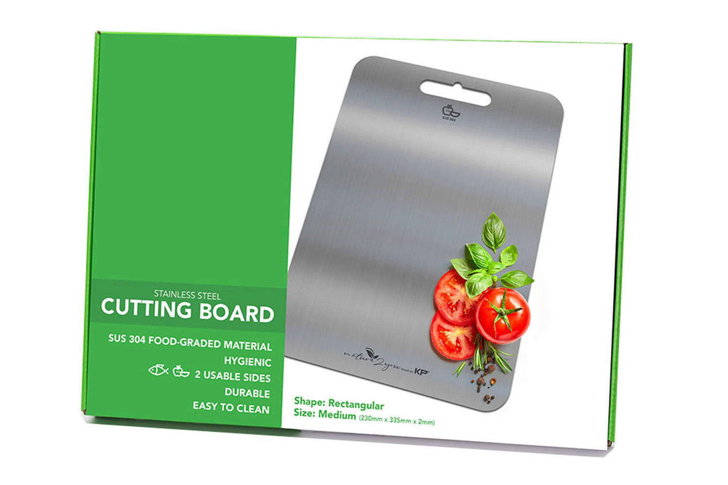 Stainless Steel Cutting Board Medium