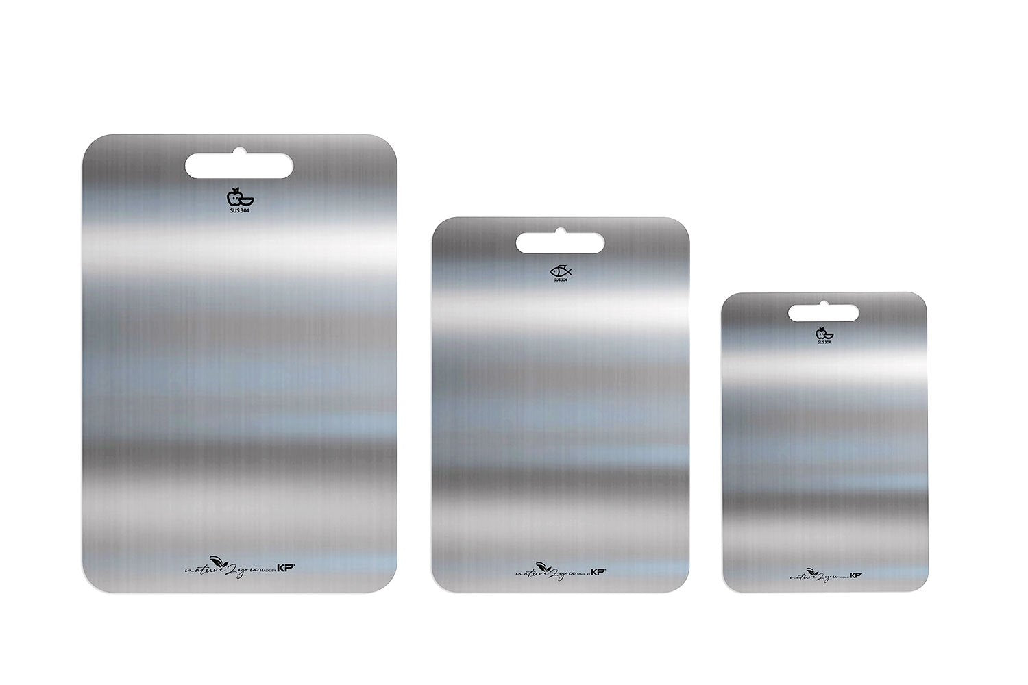 Stainless Steel Cutting Board Set (3 SIZES IN 1 SET)