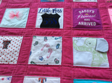 Traditional Baby Clothes Quilt