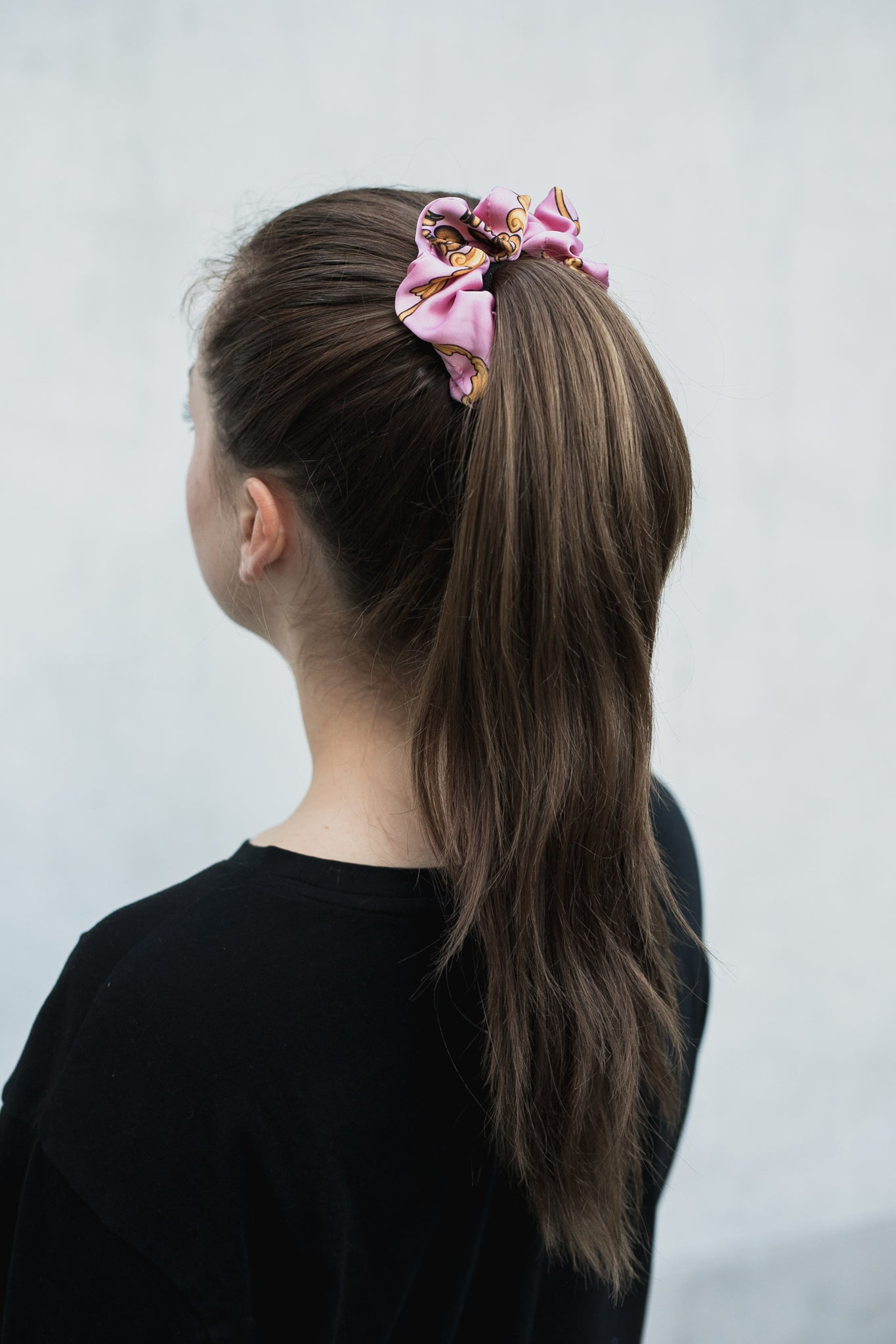 Rose Pink Scrunchie
