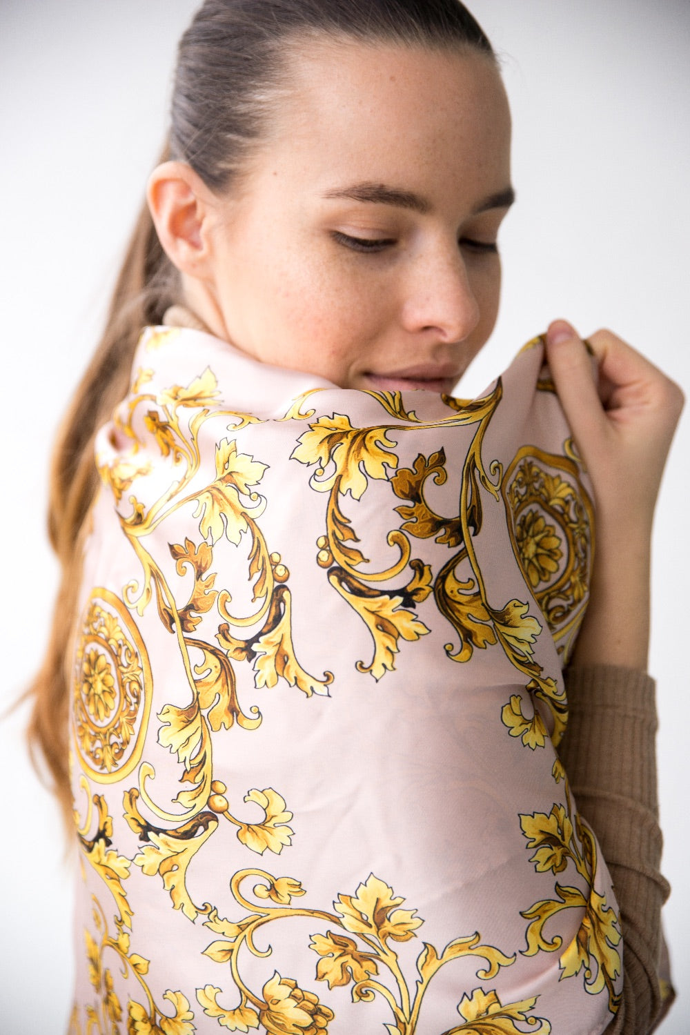 Square Scarf - LAVENDER PINK