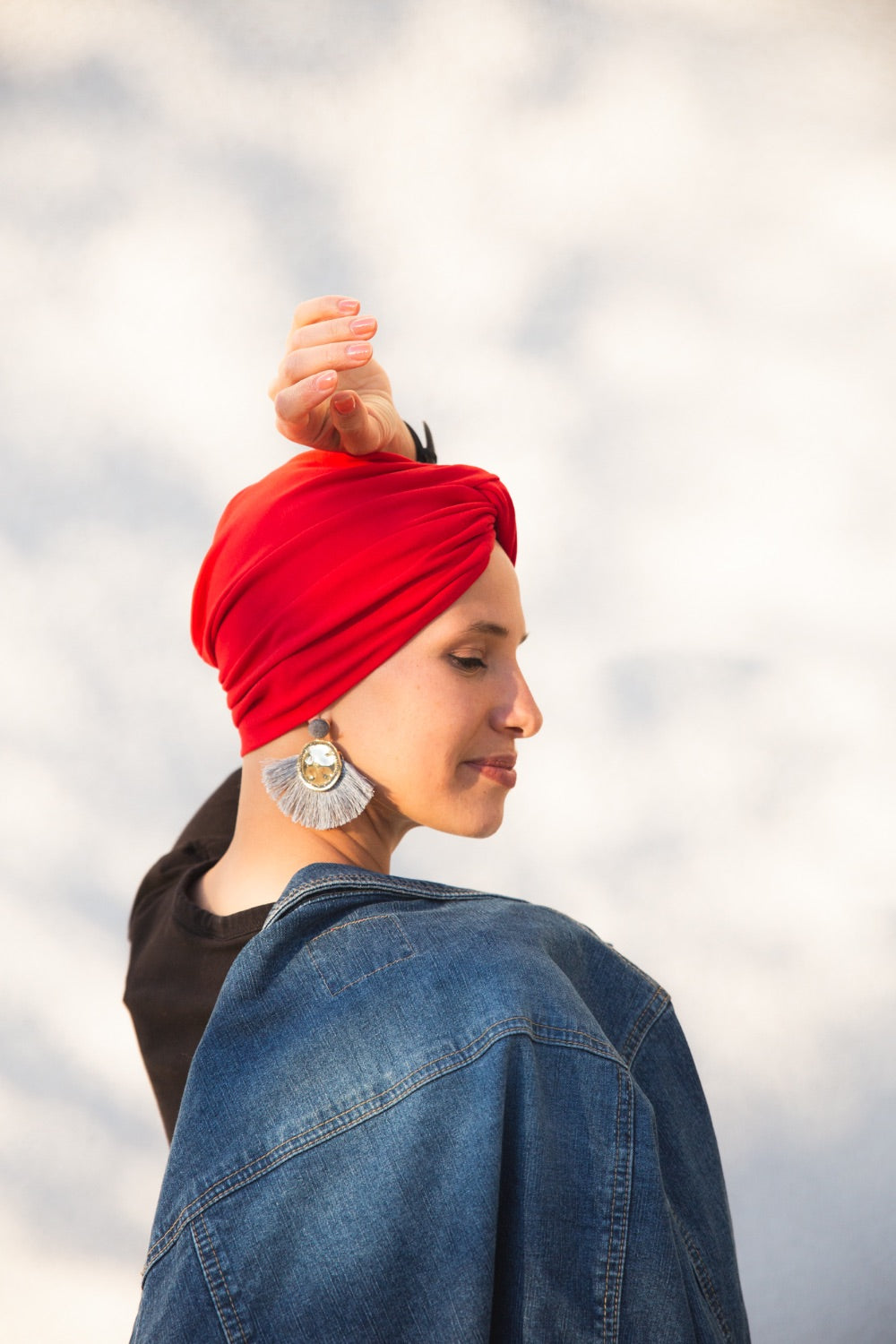 Red Crossed Turban