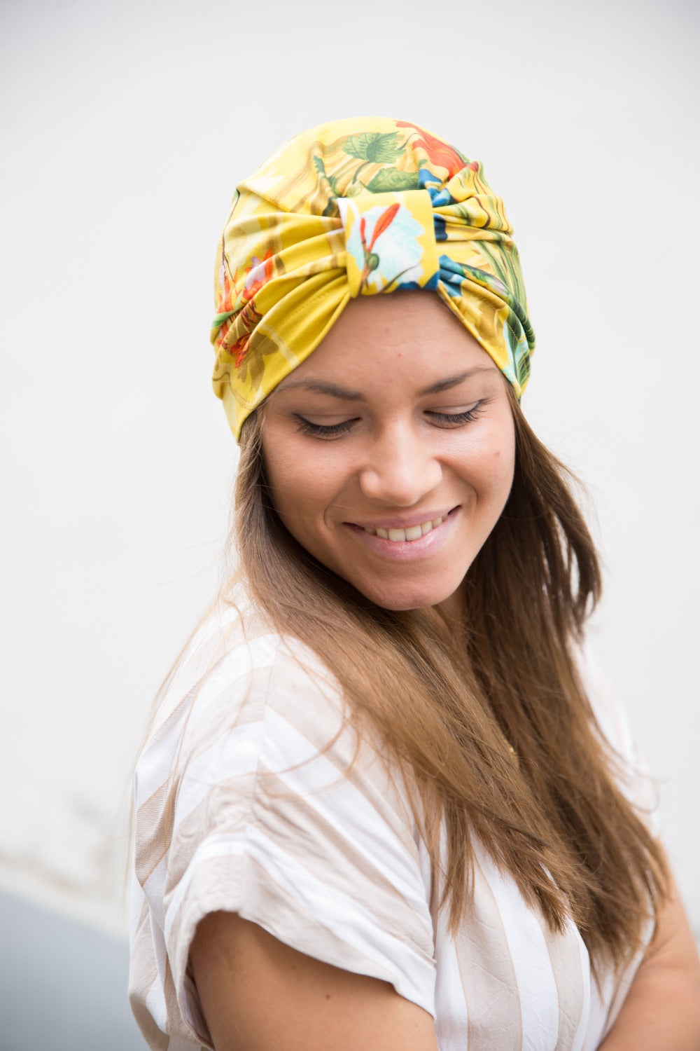Yellow Flower Turban