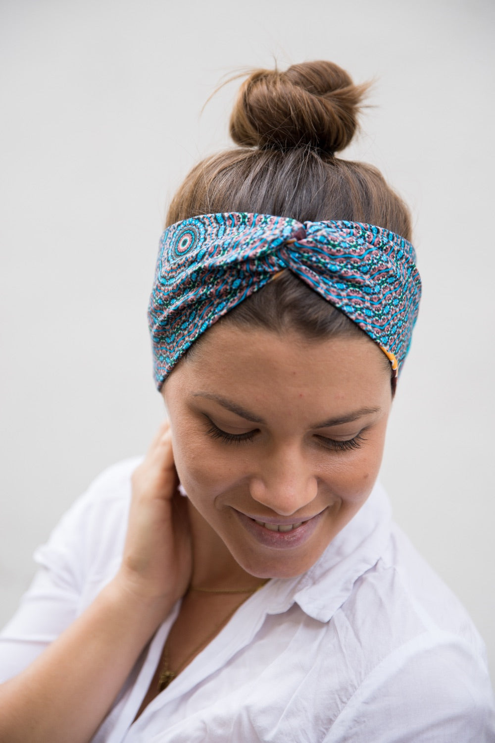 Blue Mandala Headband