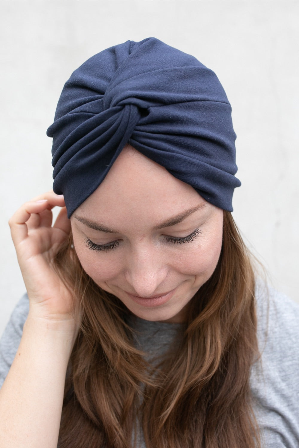 Dark Blue Crossed Turban