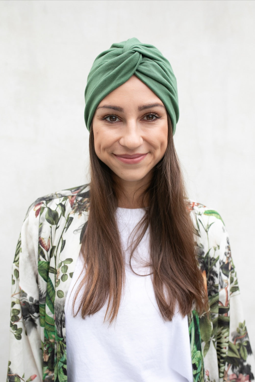 Green Crossed Turban