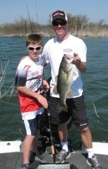 Trey and Kyle fishing Falcon Lake testing rods