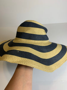 Target Blue Striped Floppy Beach Hat