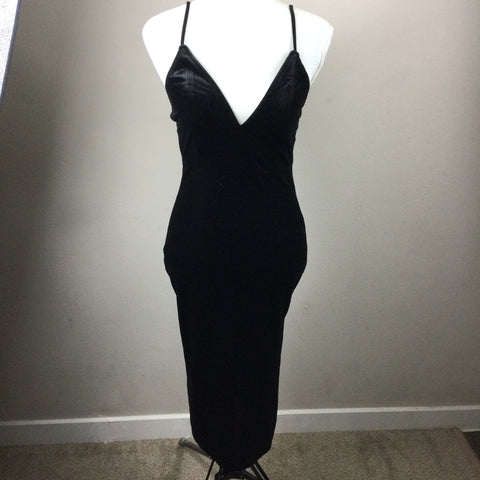 Hera Collection Black Velvet Tank Dress Medium