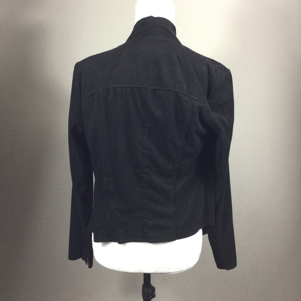 Kut From The Kloth Black Faux Suede Shrug Top