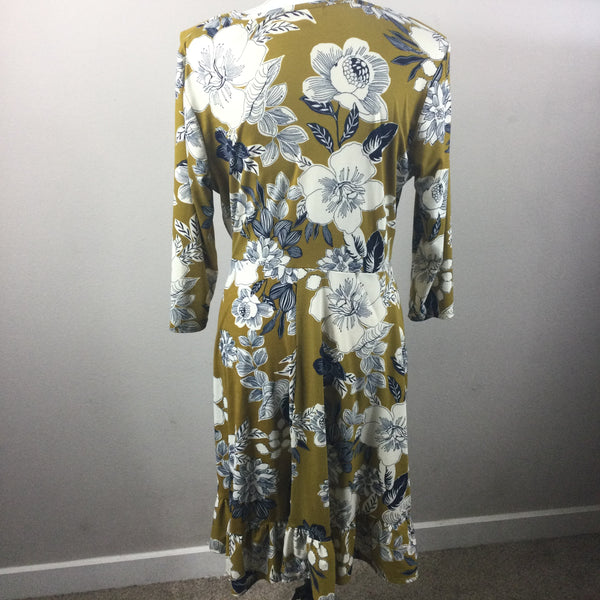 Modcloth Gilli Faux Floral Wrap Dress