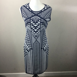 Carmen Marc Valvo Geometric Knit Dress