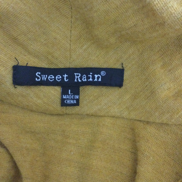 Sweet Rain Knit Moto Sweatshirt Full Zip