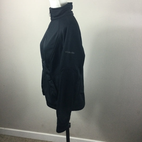 Columbia Black Full Zip Interchange Jacket Large