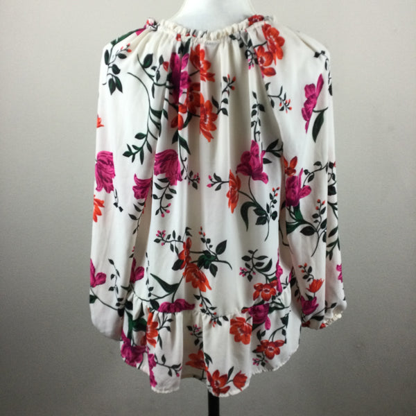 Old Navy White Floral Blouse