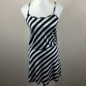 H&M Black White Stripe Tank Dress
