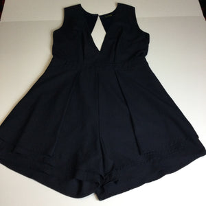 DFPRI Navy Blue Open Back Romper