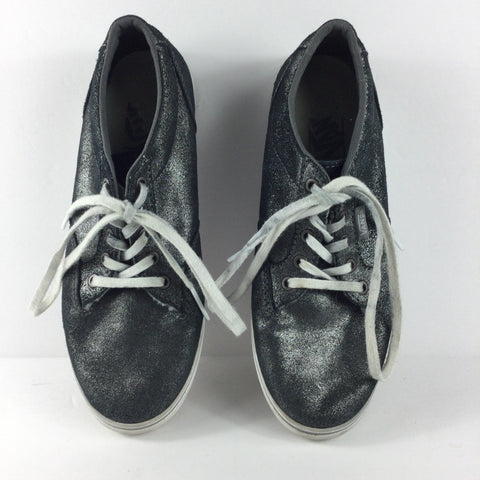 Vans Silver Metallic Lace Up Sneakers