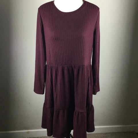 Philosophy Maroon Long Sleeve Knit Dress