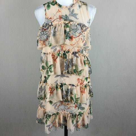 MAXSPORT Sleeveless Floral Tiered Dress