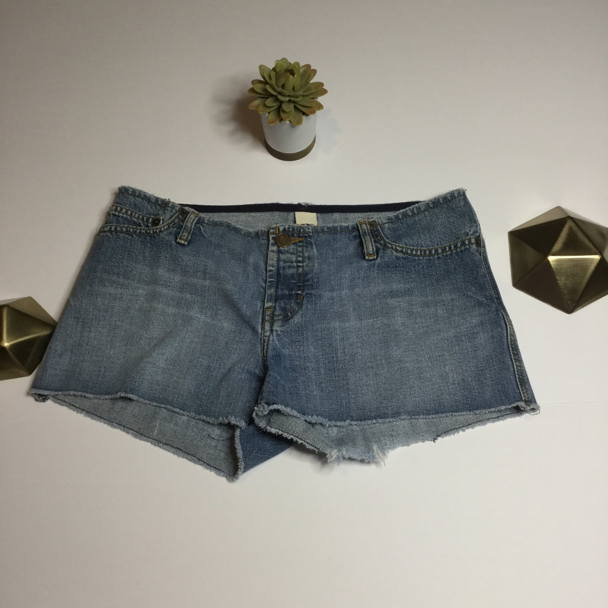 Abercrombie & Fitch raw edge jean shorts