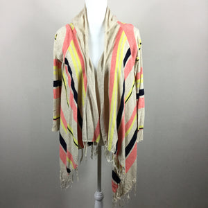Vroom By Joy Han Multi Color Fringe Shrug Sweater