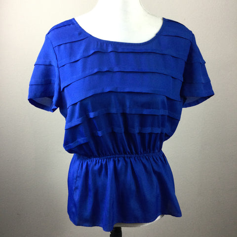 Gianni Bini Blue Peplum Top
