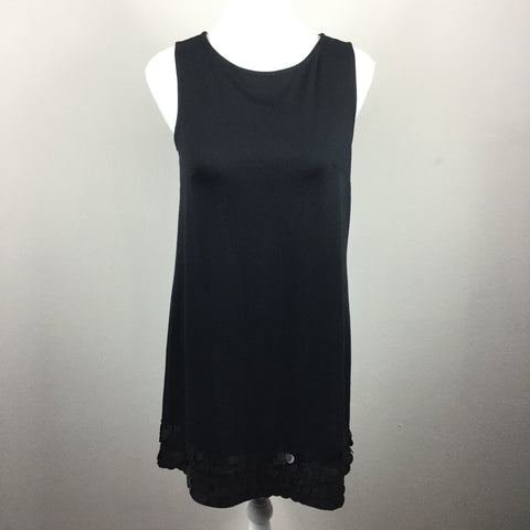 Elle black sleeveless embellished dress