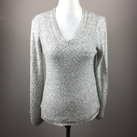 Apt. 9 gray shimmer sweater